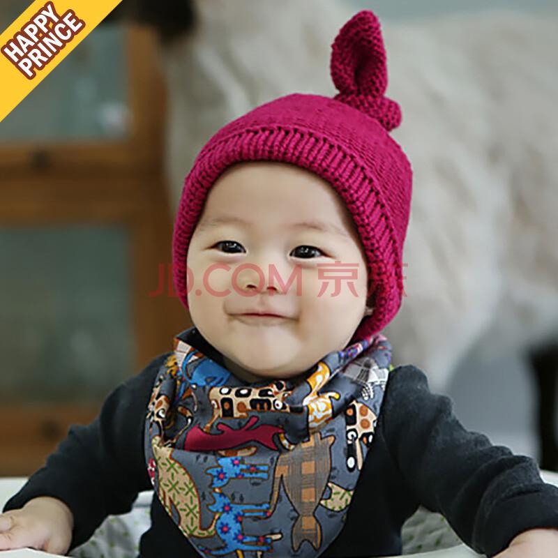 韩国新品yonaty针织帽冬季冬款婴儿帽子宝宝帽子儿童帽子毛线帽 紫色