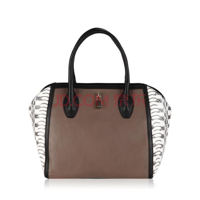 furla芙拉多色牛皮材质动物纹样式女士手提包