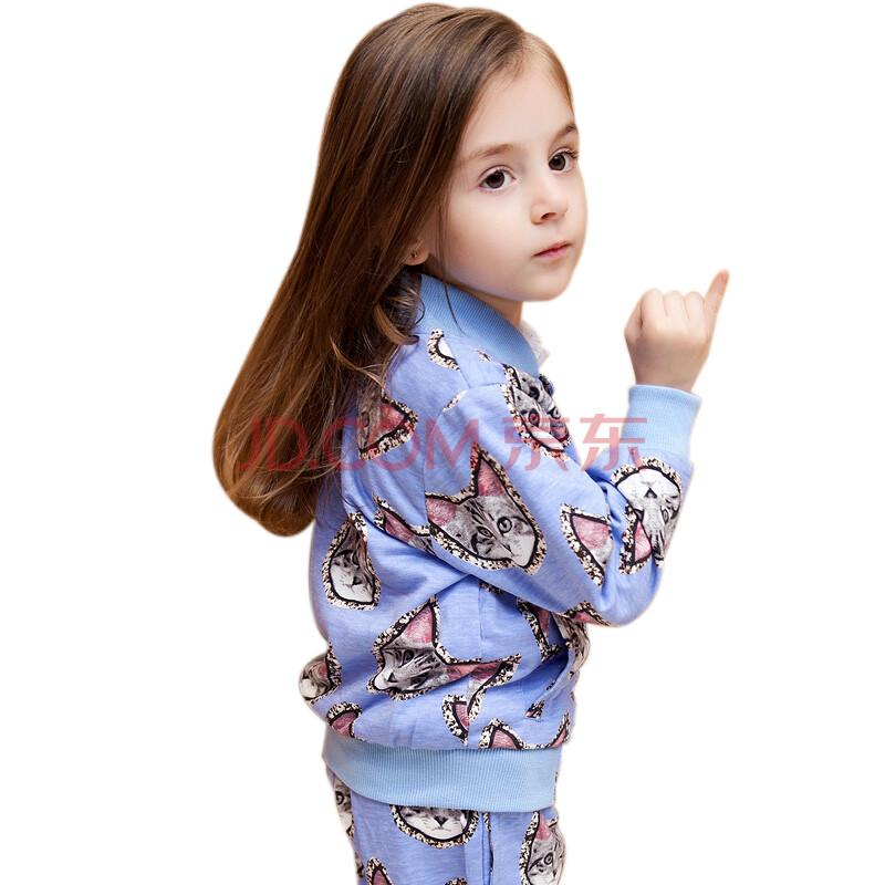 儿童运动服套装女纯棉套装儿童秋冬装套装