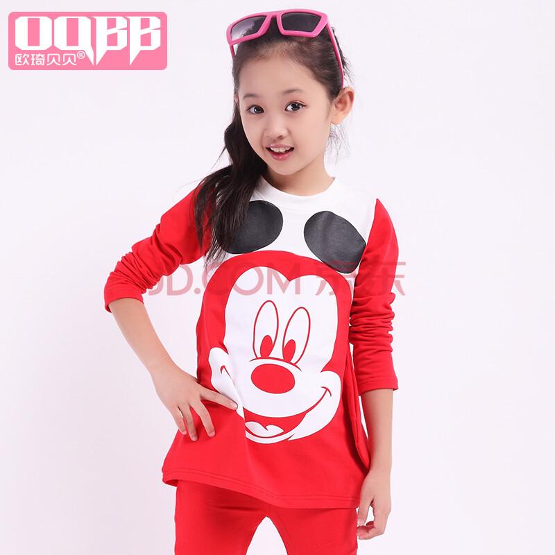 童_童装秋装女童2014新款韩版儿童休闲运动卫衣长袖中大童两件套套装