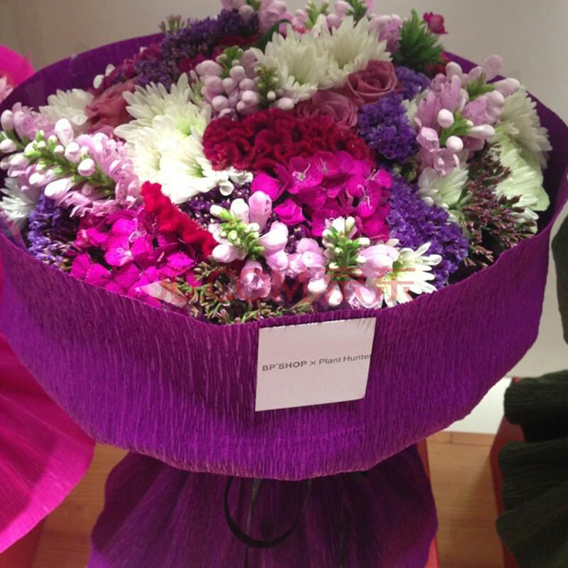 鲜花花束 紫色图片
