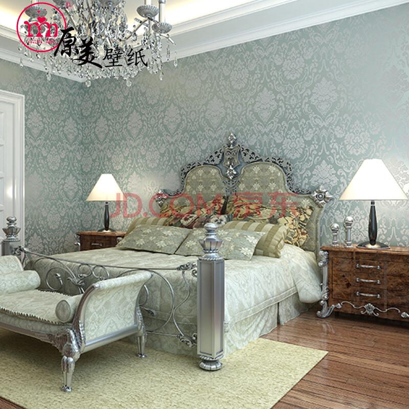 原美壁纸 欧式经典大马士革壁纸 卧室 书房 客厅电视背景墙纸 sbl6210
