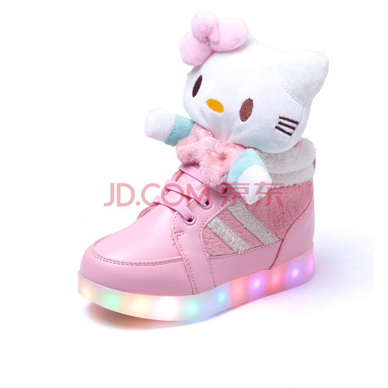 时尚儿童运动鞋usb充电夜光鞋