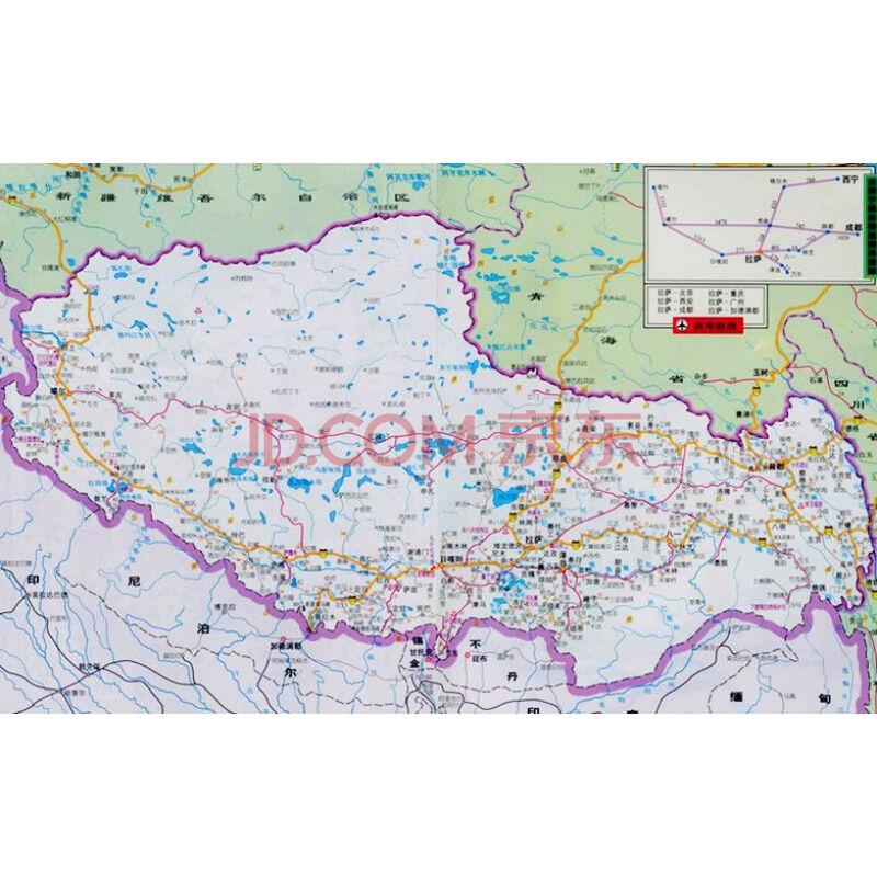 西藏自治区地图(1:157万)