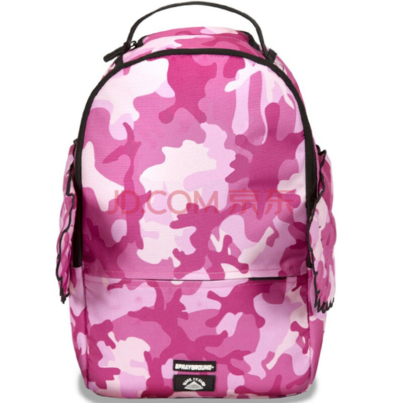 粉色迷彩图案翅膀双肩包