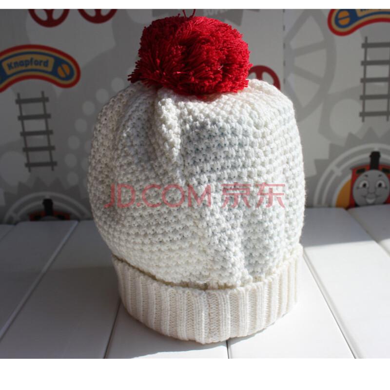 儿童帽子宝宝小孩红色婴儿保暖帽子女外出帽男复古针织帽 婴儿鞋帽袜