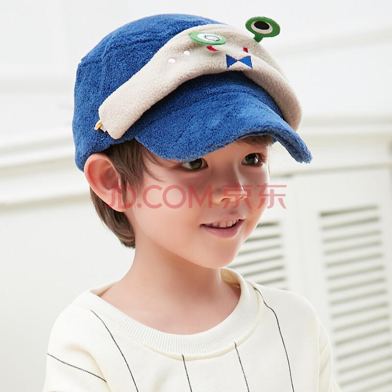 siggi 儿童帽子秋冬天保暖棒球帽全棉男女童鸭舌帽可爱青蛙卡通宝宝帽