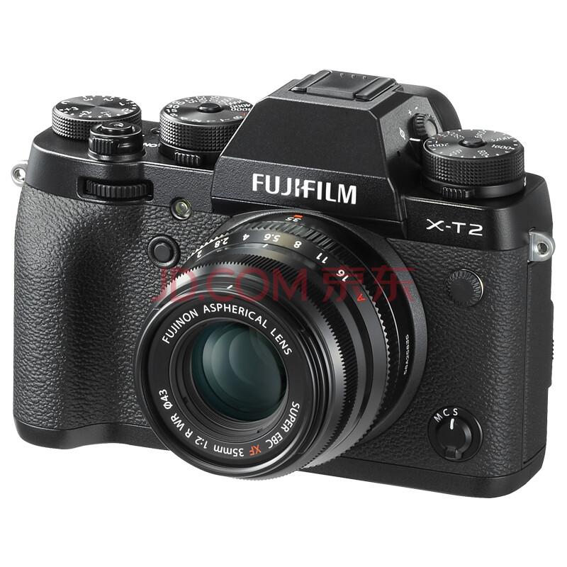 富士(FUJIFILM)X-T2(XF35 F2.0)黑色 微单电套机 2430万像素去低通 4K 镁合金防滴防尘 双高速卡槽
