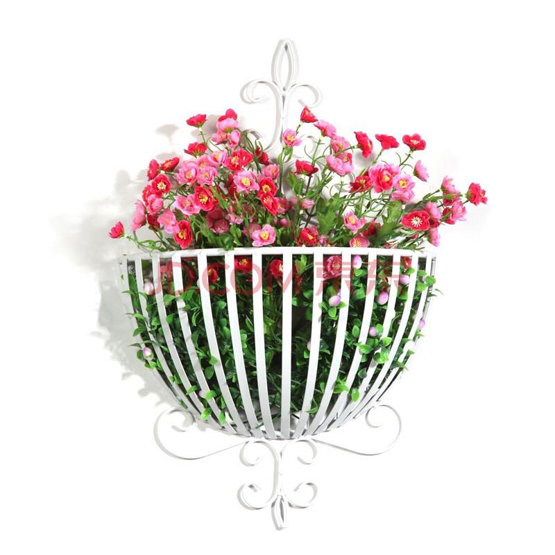 蝴蝶印象 欧式古典壁饰壁挂花篮花架 花盆装饰花架hd2082 白色图片