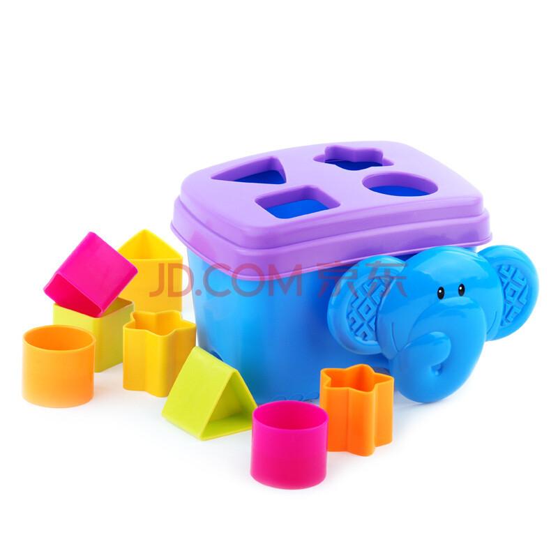 费雪大鼻象配对学习积木盒 认识形状颜色 0-1岁宝宝益智玩具y2769