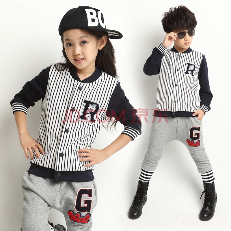 新款2014秋装套装男童女童套装小孩子衣服儿童休闲运动套装小学服