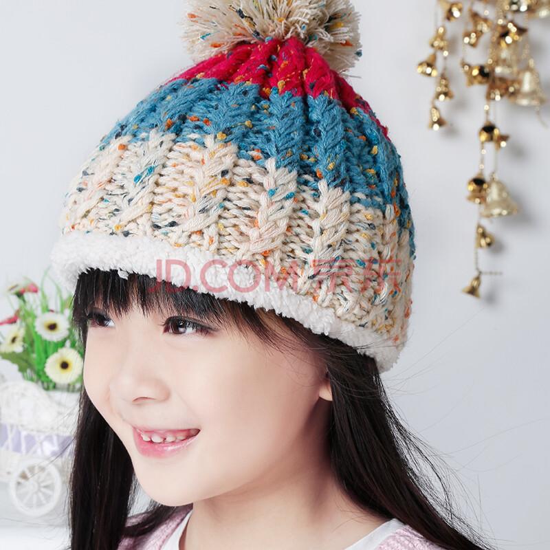 南极人童装2014儿童帽子秋冬款男宝宝童帽女童护耳保暖针织套帽可爱