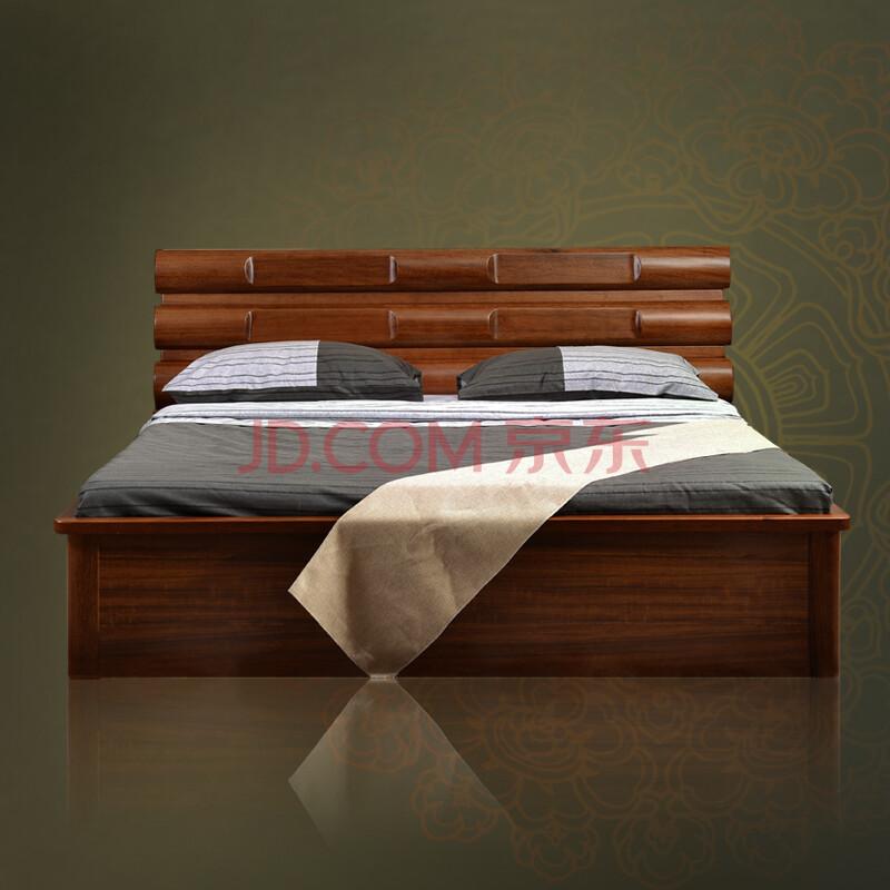 8米双人床 虎斑木床 虎斑木框架结构床(不可储物) 1200mm*2000mm