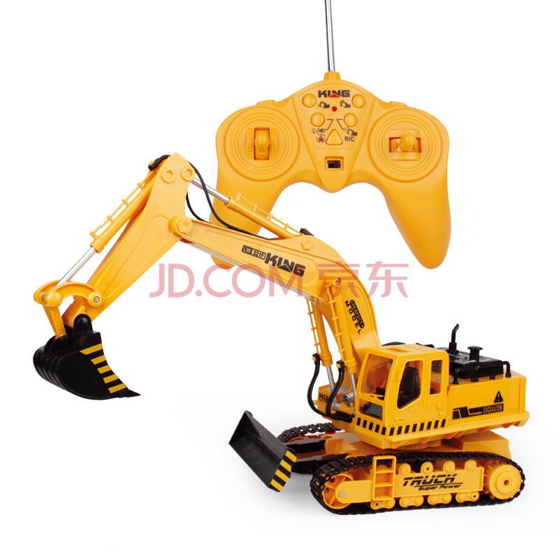 儿童玩具工程车 遥控无线挖土机汽车