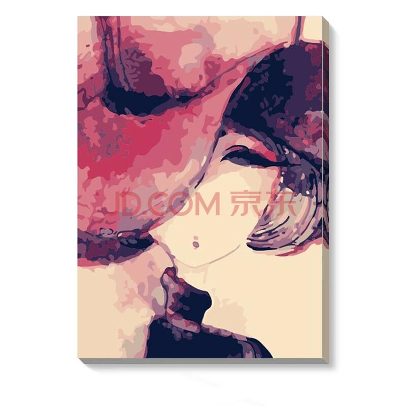 人物卡通动漫手绘画 大幅装饰画 coco少女系 e065-coco2- 60*75cm精装
