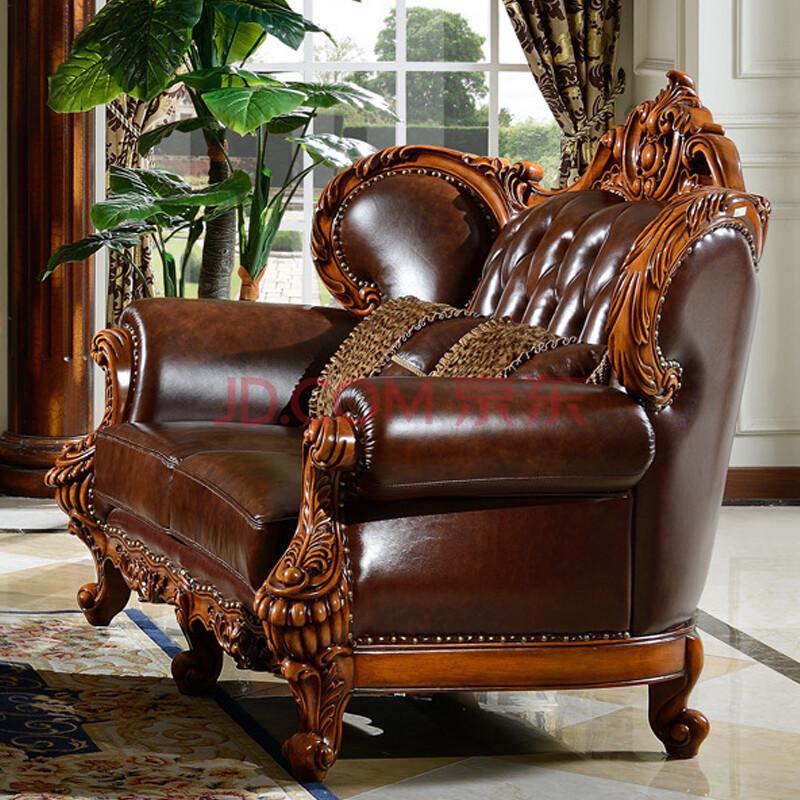 欧维佳家具 美式沙发 实木沙发 欧式真皮沙发 经典新款欧式沙发 真皮图片