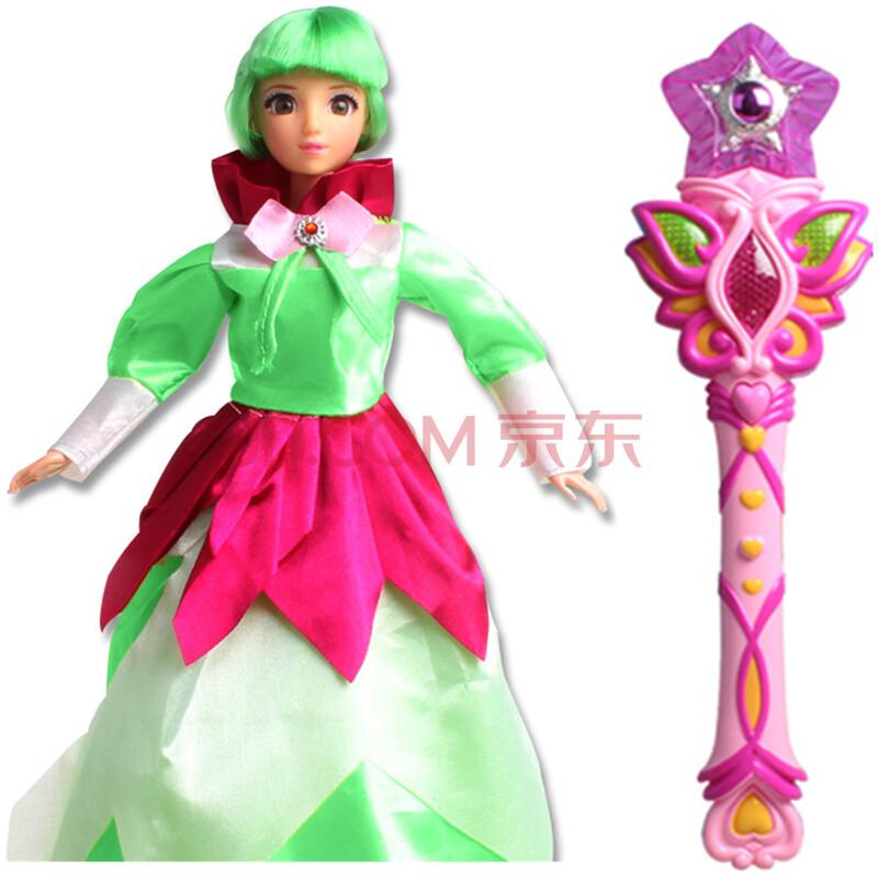 芭比娃娃儿童益智早教故事机女孩玩具带皇冠魔法棒