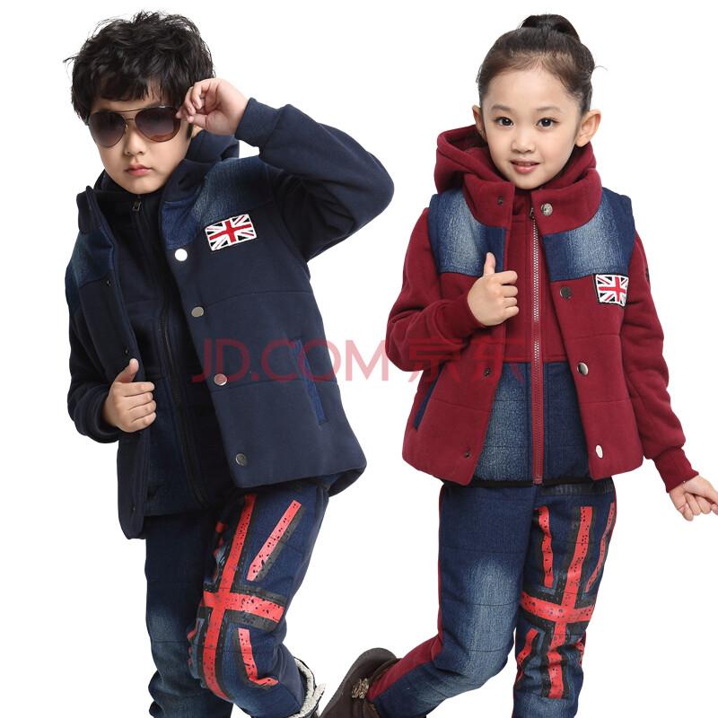 2014新款冬装男童运动套装儿童秋季三件套3-4-5-6