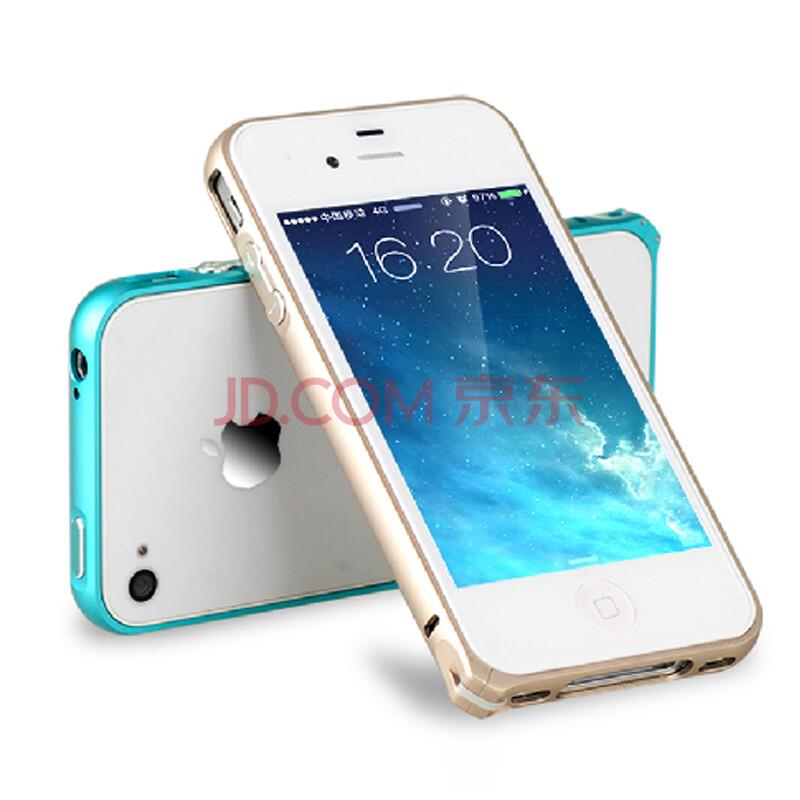 香港加利加 苹果iphone4s手机壳 超薄金属边框保护壳 直边 圆弧 贵族