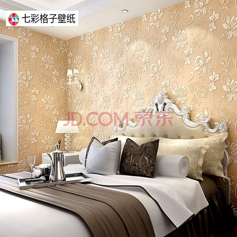 客厅墙纸满铺欧式