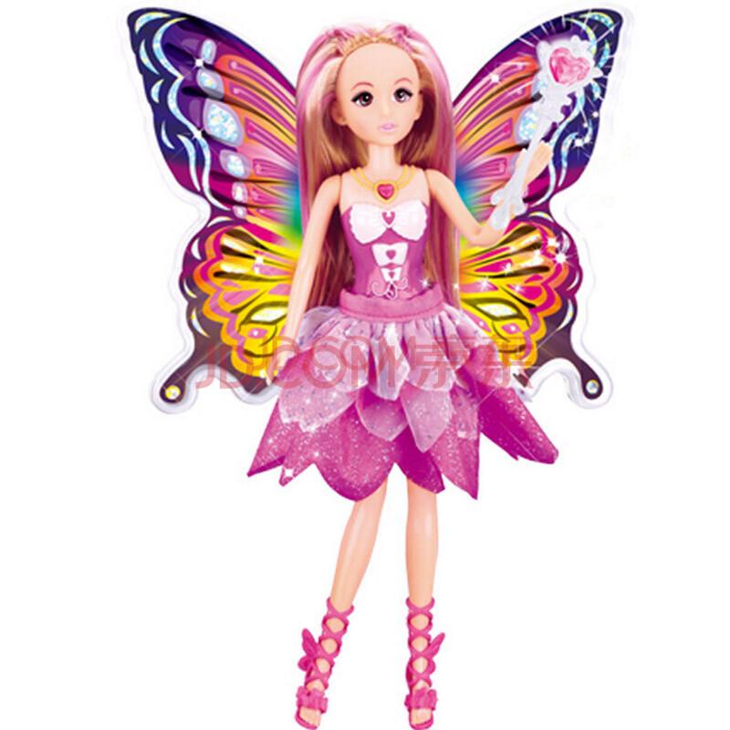 乐吉儿芭比娃娃蝴蝶仙子洋娃娃套装礼盒可儿女孩玩具