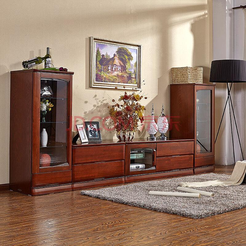 天坛家具 电视柜 天坛实木电视柜 榆木 组合电视柜 现代简约风格 单门