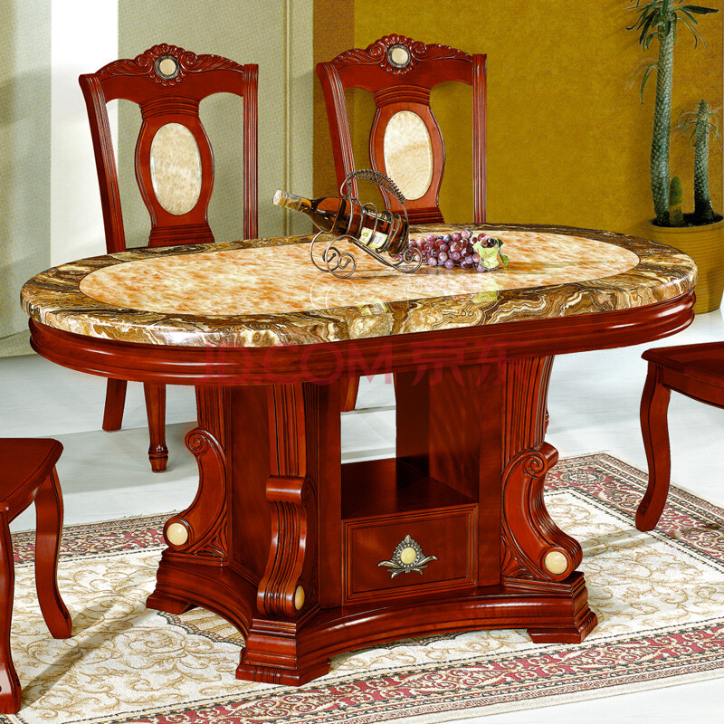 欧式实木餐桌高清素材