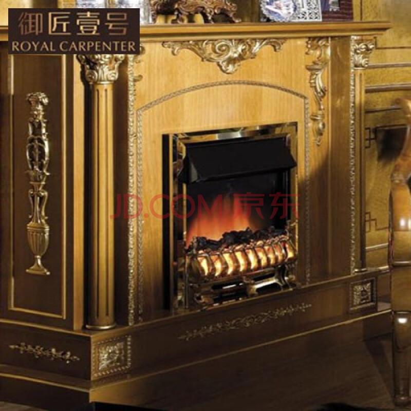 御匠壹号 欧式法式意大利实木雕刻家具定制 实木雕花壁炉架