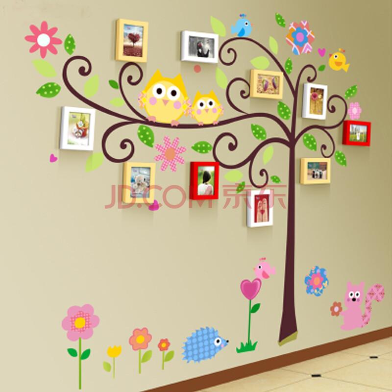 幼儿园墙面装饰照片墙