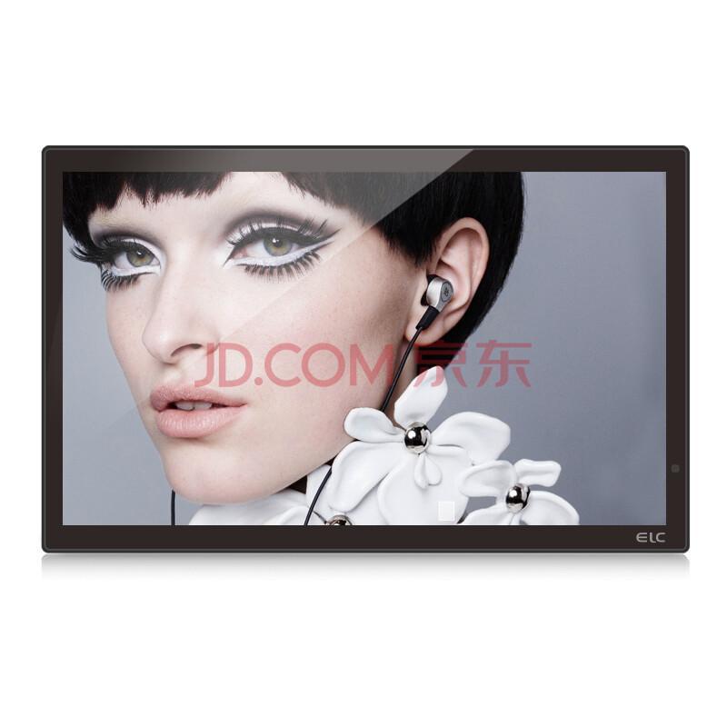 易乐看ELC2151HD  21.5英寸数码相框高清电子相框全格式1080P视频 黑色钢化玻璃+国标壁挂件