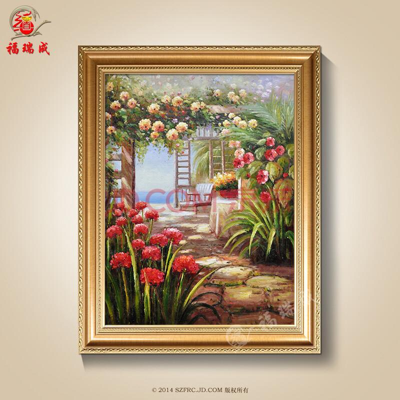 欧式油画手绘高档油画风景客厅玄关田园山水风景油画装饰 作品一 现货