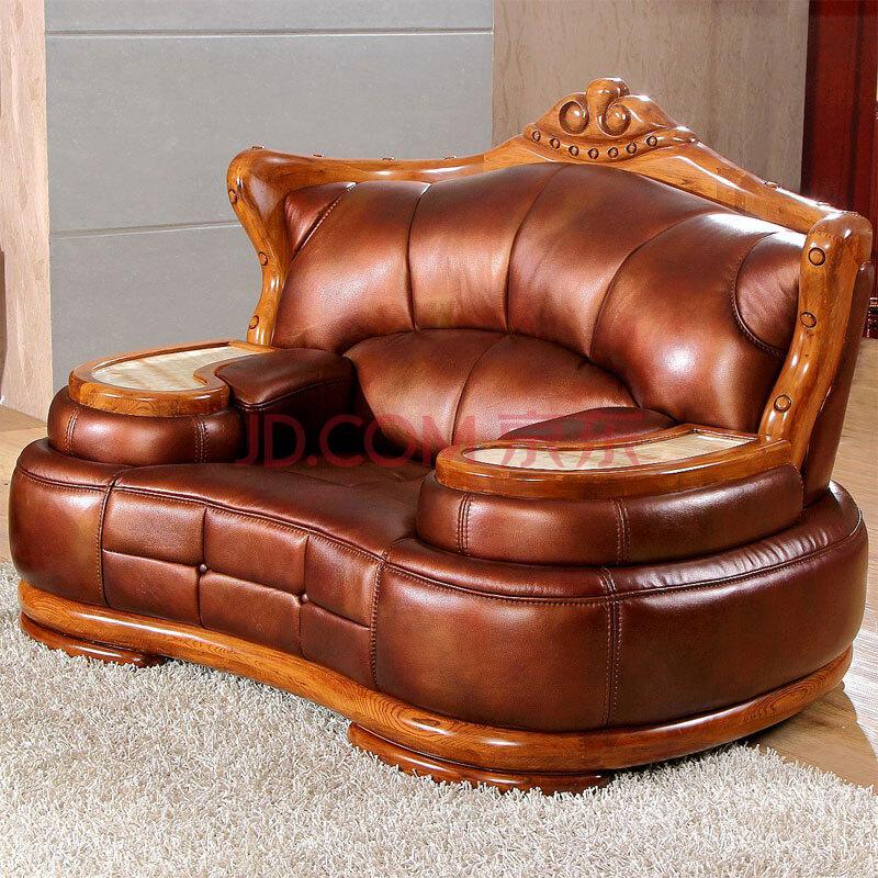 凯迪依诺 欧式豪华别墅大款沙发 全实木大户型客厅会所沙美式沙发 深