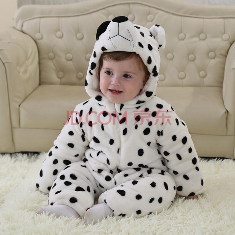 宝宝冬季款三层加厚可爱动物造型保暖外出连体哈婴幼儿衣服123岁 h