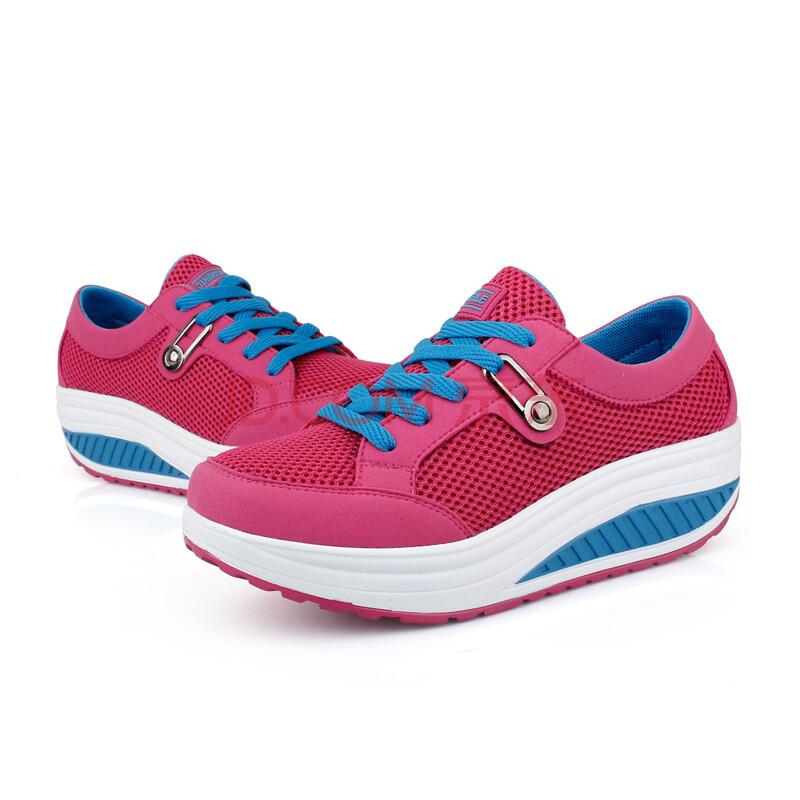 瘦腿勒新款减肥鞋女可以鞋内增高走脂鞋瘦脸鞋运动金贝摇摇瘦腿瘦身用什么松糕图片