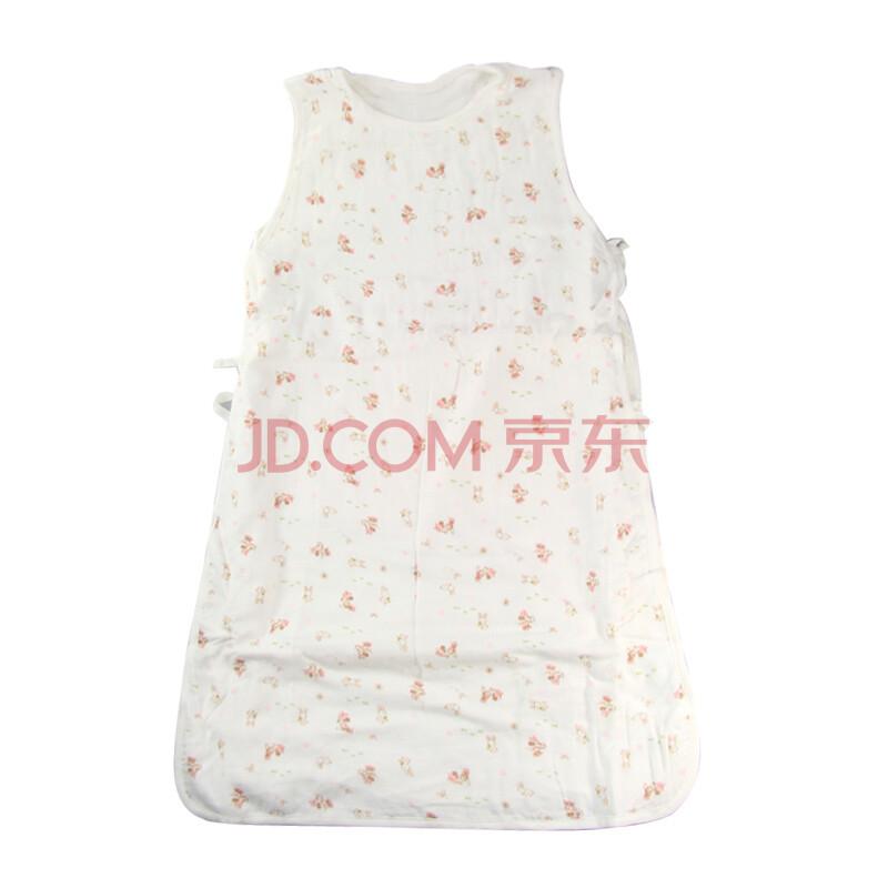 迪士尼宝宝纱布背心睡袋 儿童防踢被 婴儿睡袋 夏季薄款 粉色含肚围
