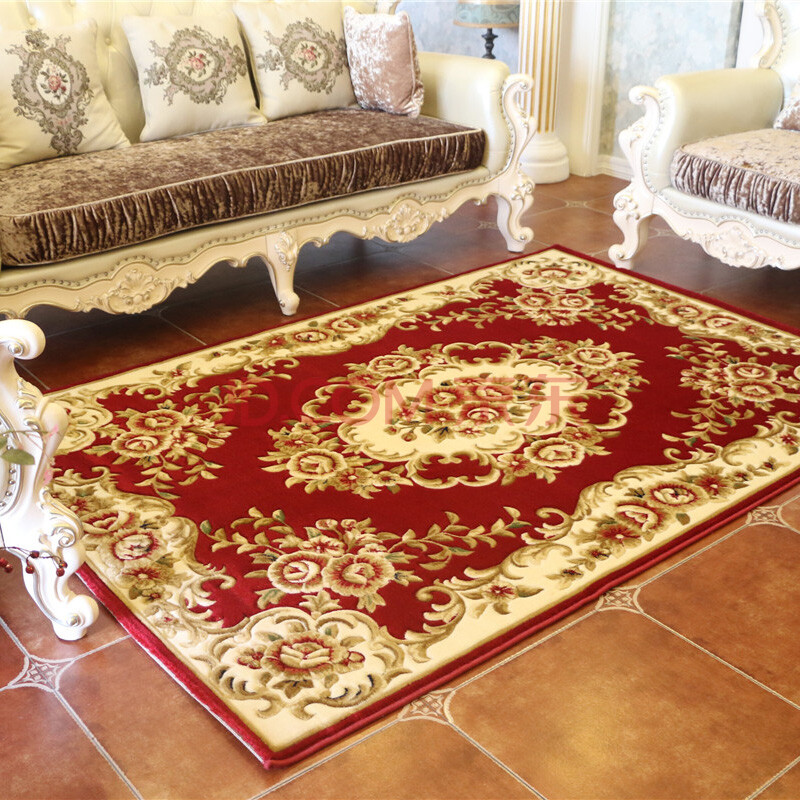 地毯田园中式客厅红木茶几地毯别墅地毯古典风格可水图片