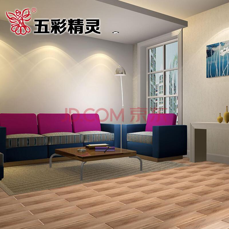美式乡村风格客厅卧室阳台走廊房间 仿古砖 木地板砖效果 hl15602g