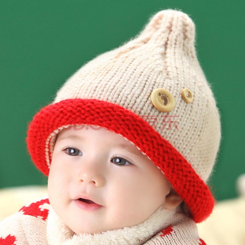秋冬季男女宝宝帽子 儿童毛线帽子保暖帽 韩版婴儿帽子护耳拍照帽