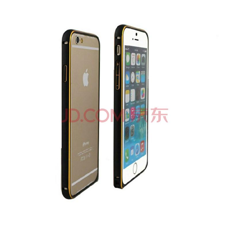 名樱 双色金边圆弧海马扣手机金属边框保护壳配件5.