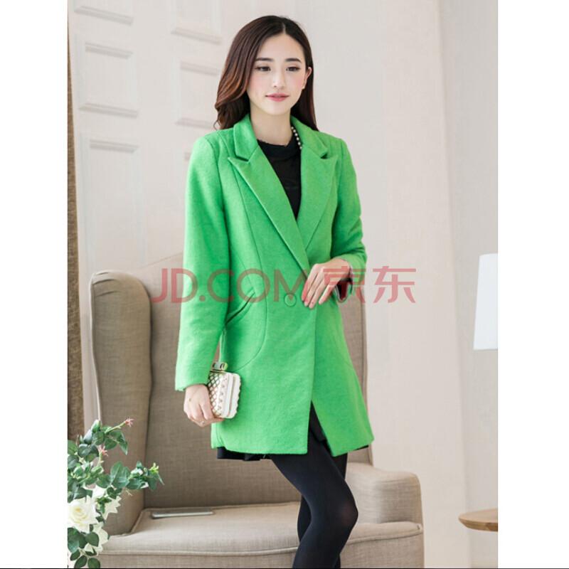 绿色羊毛大衣搭配