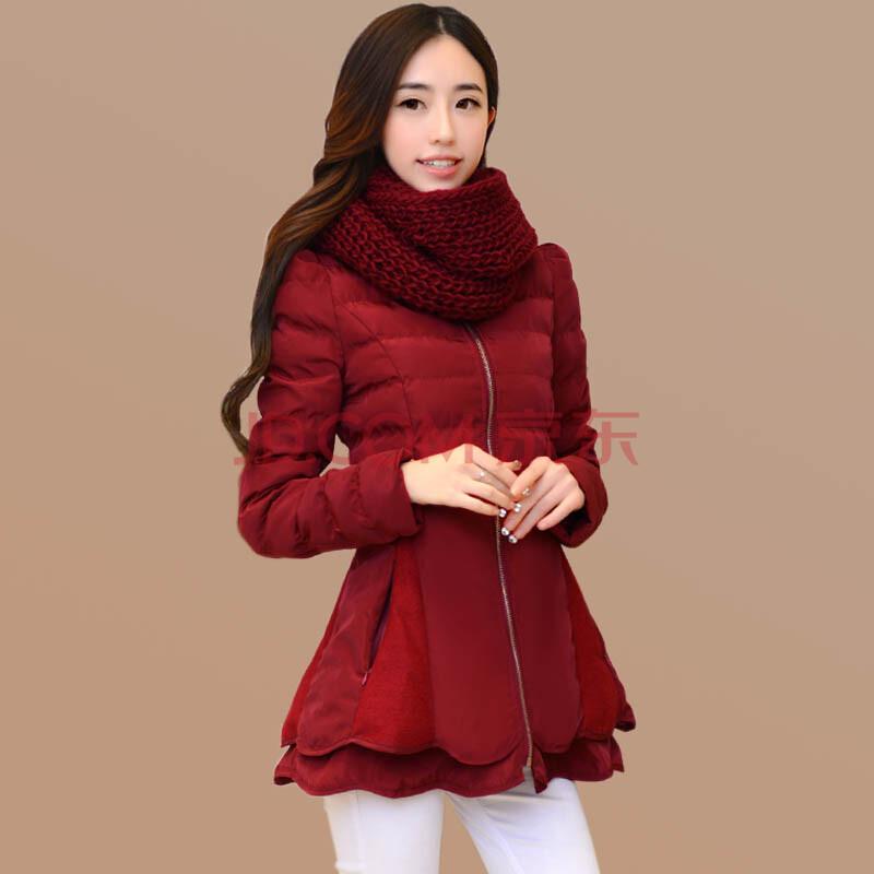 时尚修身女装棉衣图片