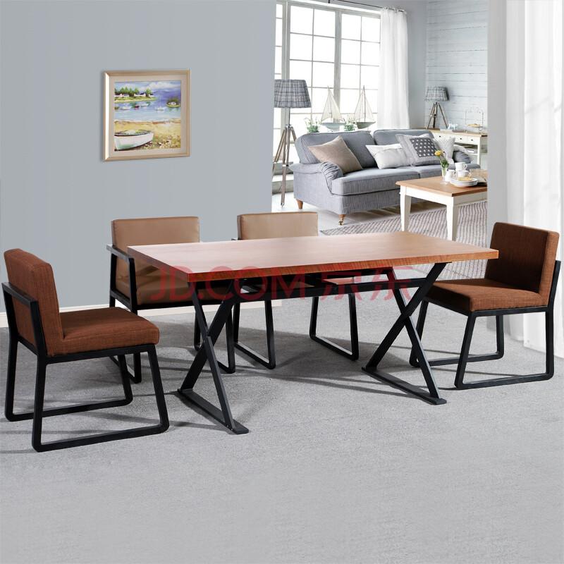 乌木原创 北欧宜家简易餐桌 简约钢木餐台 小户型餐桌