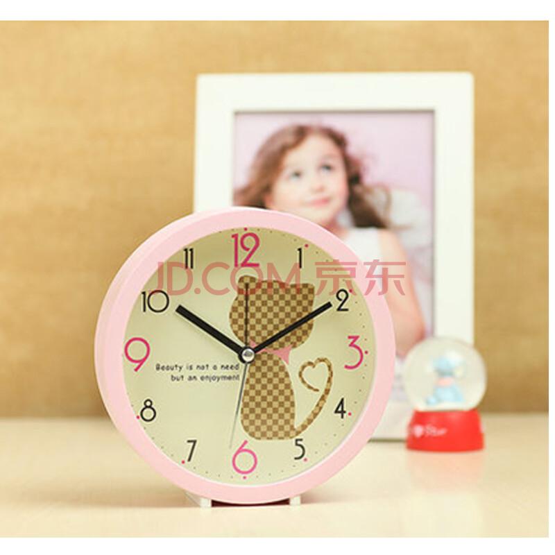智乐优 韩式小清新钟表超静音闹钟创意可爱 儿童房田园风 宜家清新