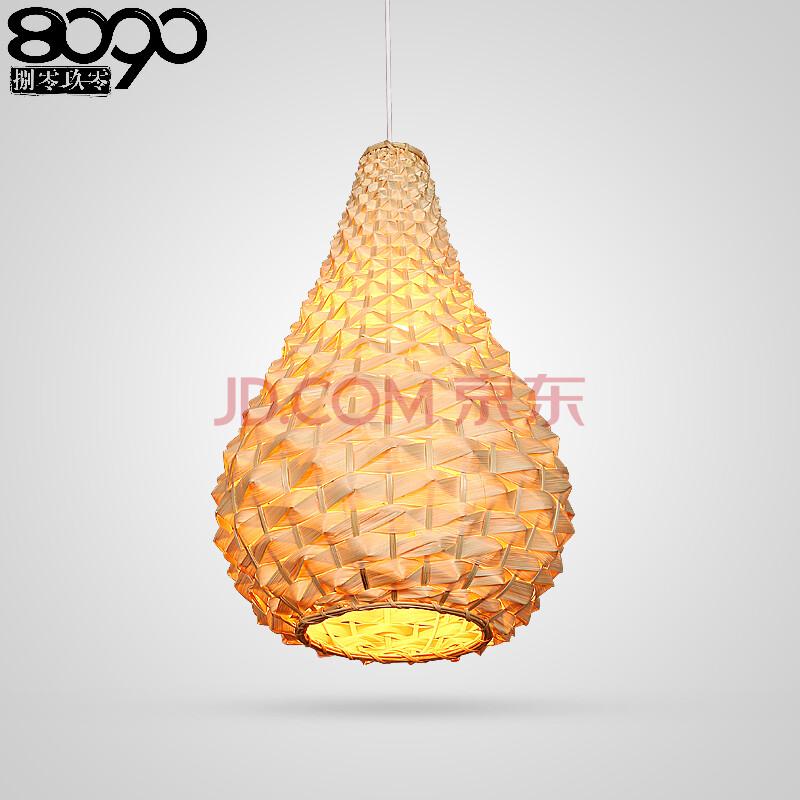 8090捌零玖零中式灯具田园餐厅过道现代简约手工编织竹灯创意吊灯810图片