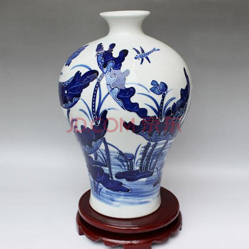 客厅玄关摆件陶瓷艺术品 梅瓶 礼品套装图片