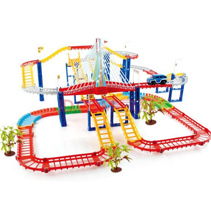 碟中碟 轨道玩具 儿童玩具超大型轨道汽车组合拼装益智玩具电动轨道车