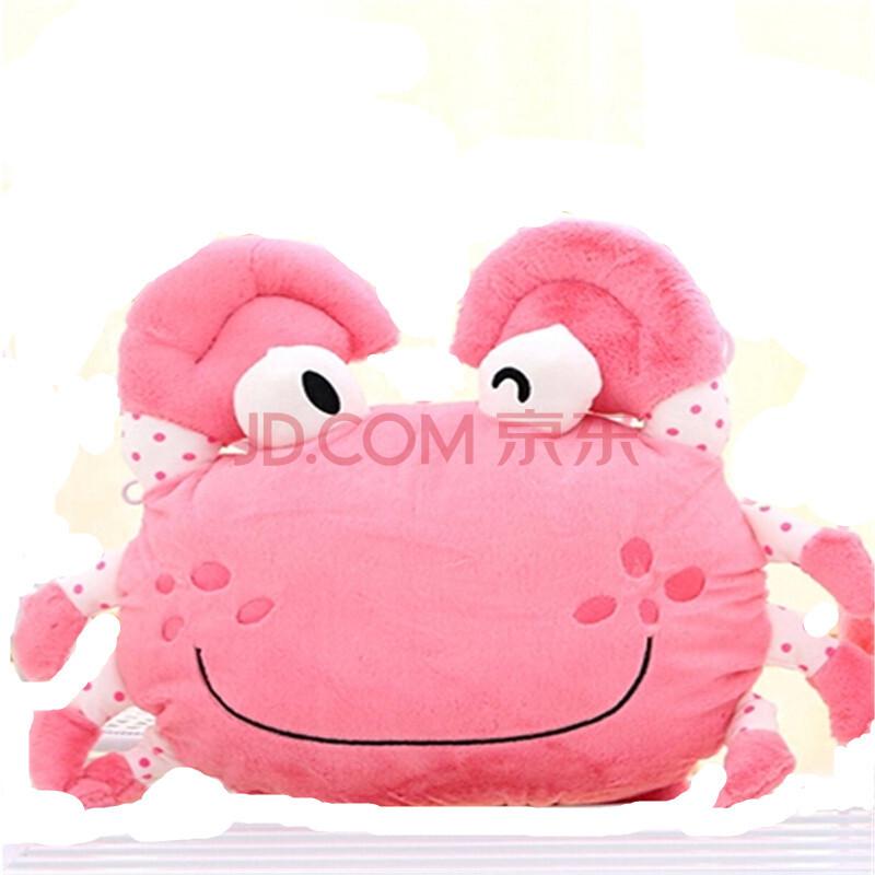 生日礼物送女生卡通睡觉抱枕 螃蟹玫红色(小夹子) 50cm