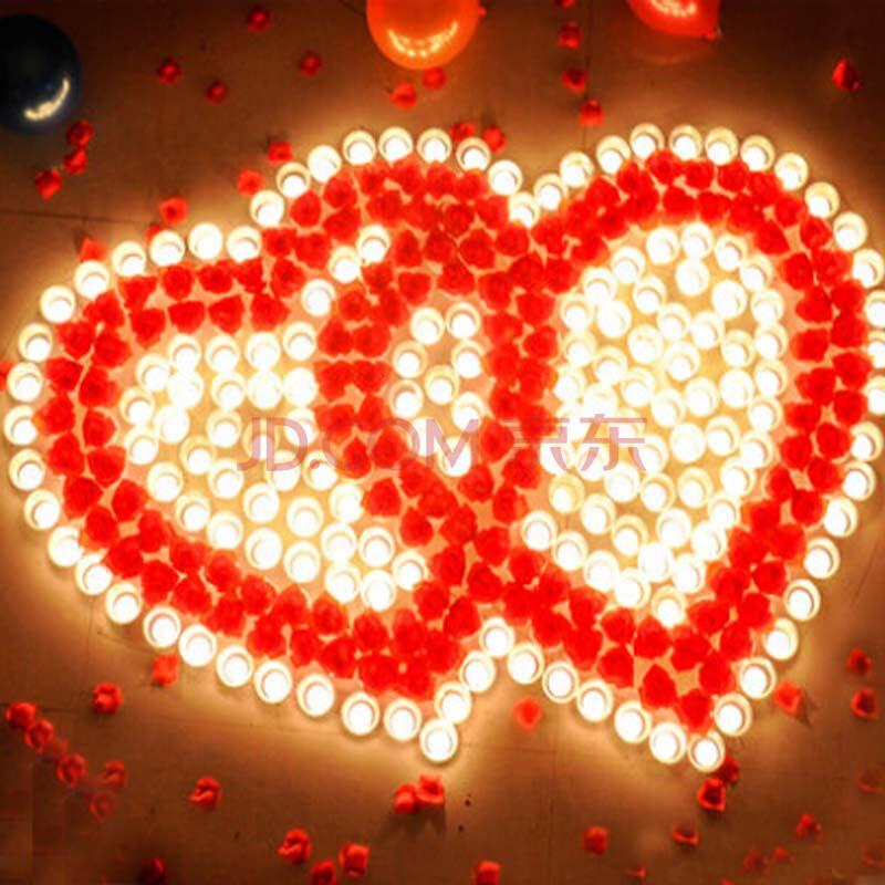 创意蜡烛浪漫套餐心形生日蜡烛 爱心表白玫瑰求婚礼物 婚庆无烟 婚庆图片