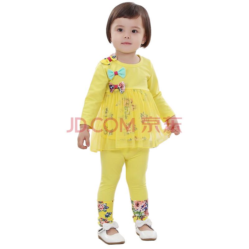 秋装女童装儿童套装婴儿长袖套装婴儿服装小孩衣服