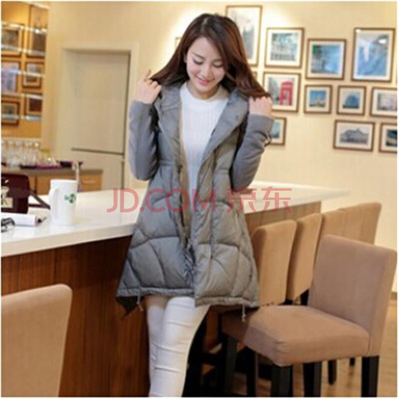 2014新款女冬装韩版中长款斗篷式宽松羽绒服